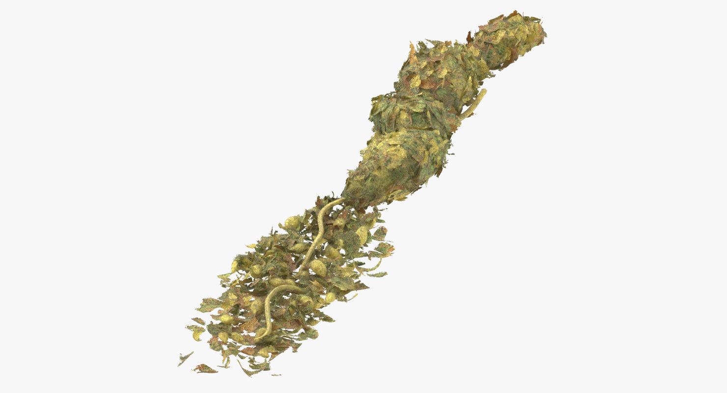 3D loose piles marijuana 01 model