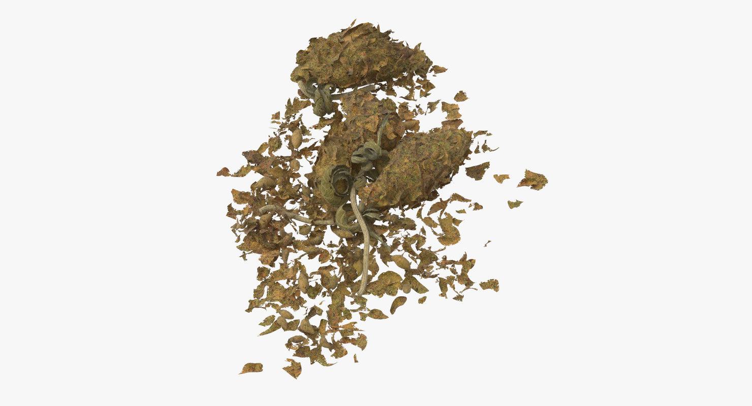 loose piles marijuana 02 3D model