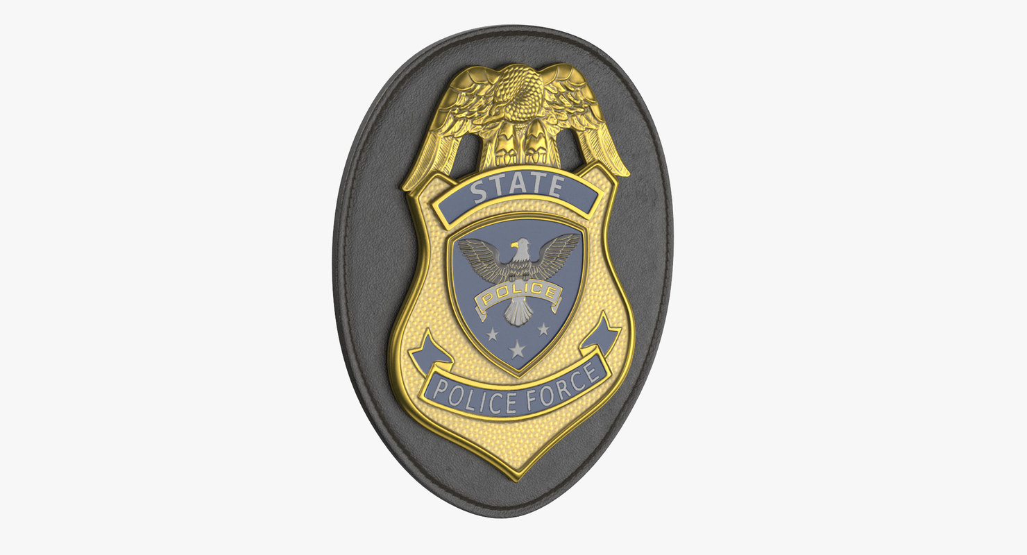 police badges modern 02 3D