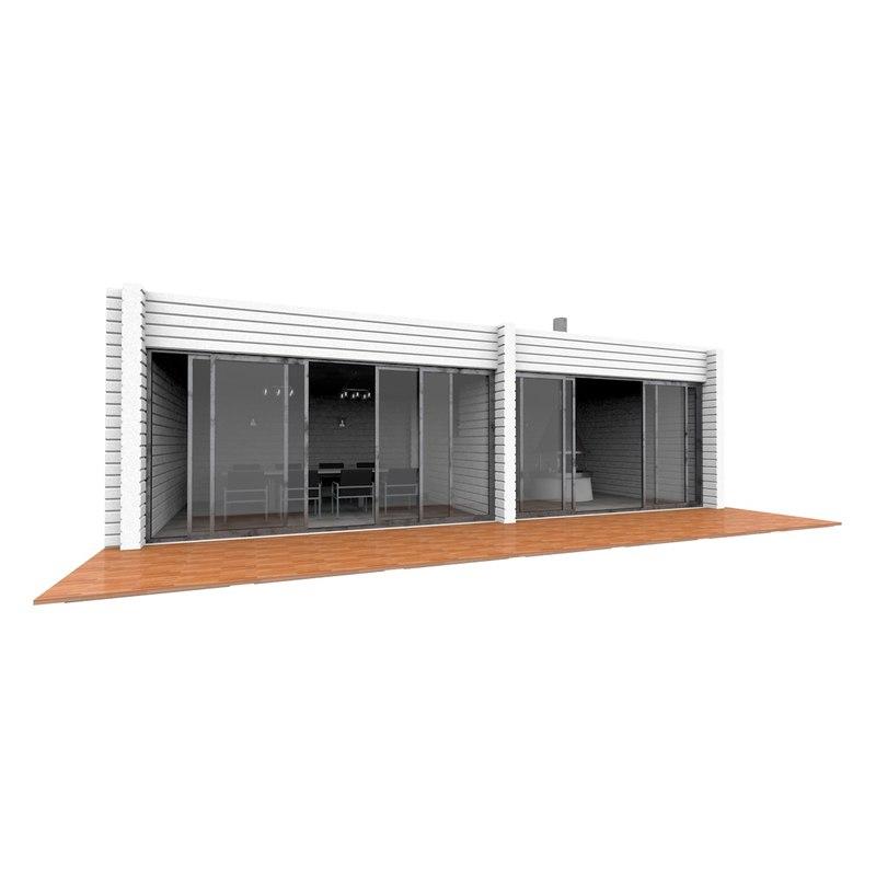 modern alcove 3D model