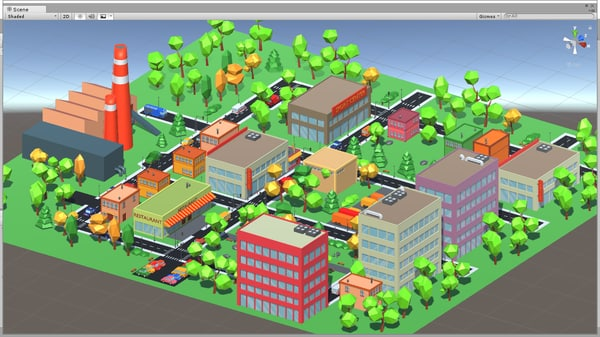 3D cartoon town toon model