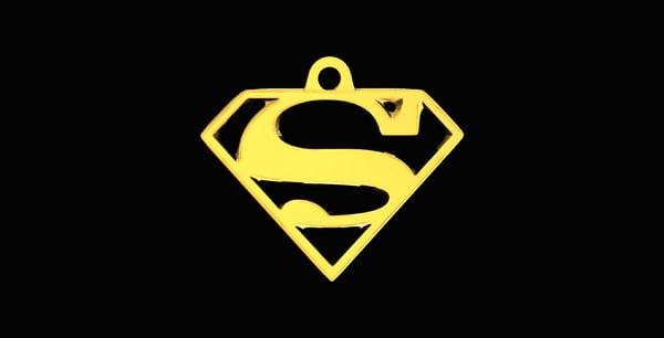 3D superman necklaces model