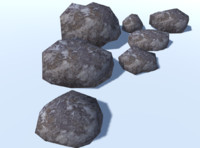 7 Ultra Low Poly Rocks