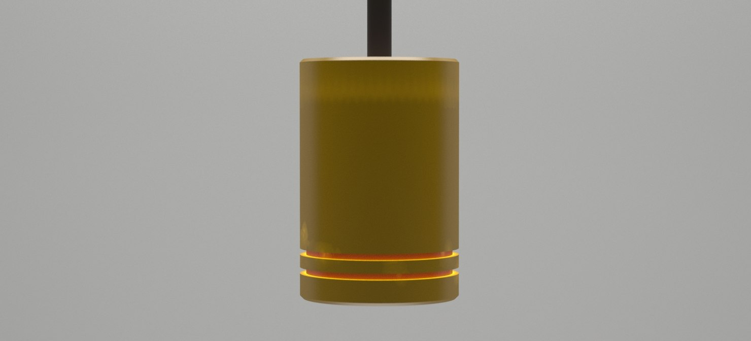 halogen 75w drop light 3D model