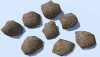 8 Ultra Low Poly Rocks