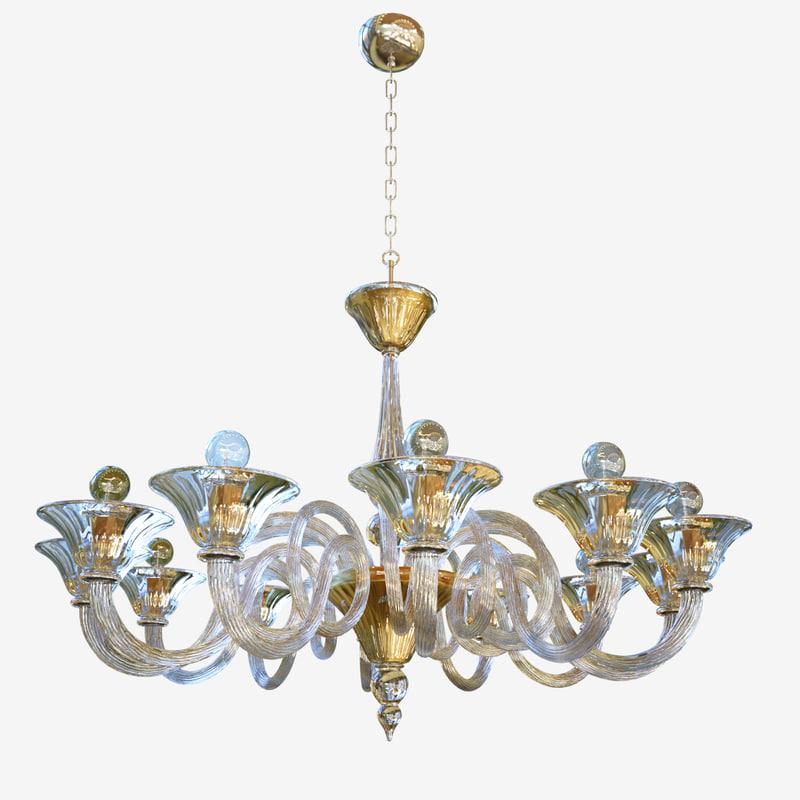 chandeliers lights sylcom dolfin 3D model
