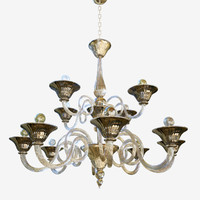 3D chandeliers lights sylcom dolfin model