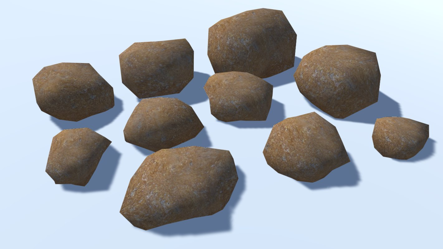 10 ultra rocks 3D model