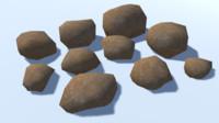 10 ultra rocks 3D model