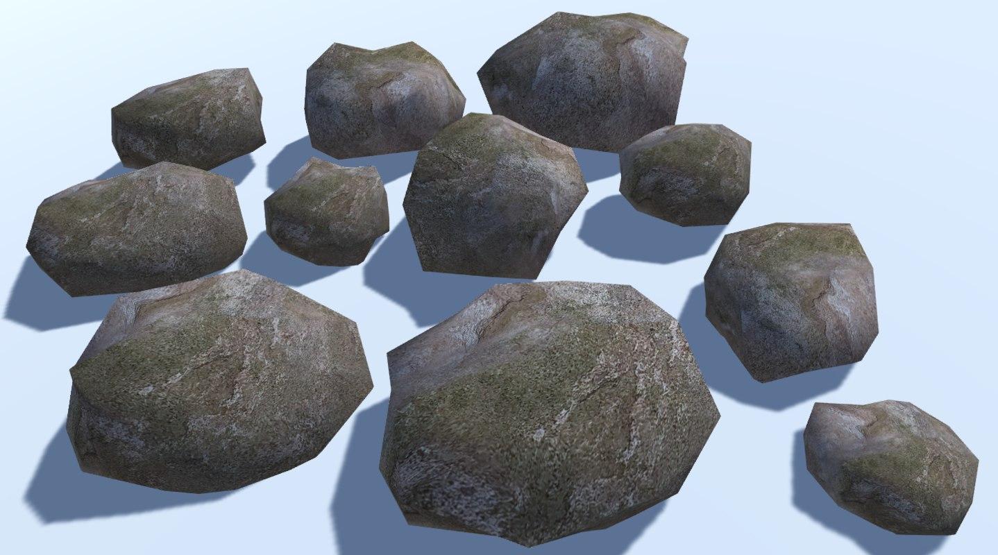 3D model 11 ultra rocks