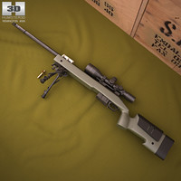 remington m40a5 m 3D model