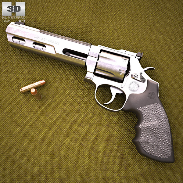 3D smith wesson 686 model