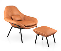 rowan leather chair model