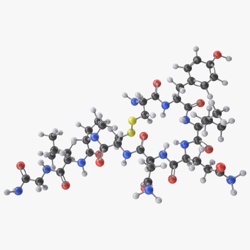 3D model oxytocin molecule
