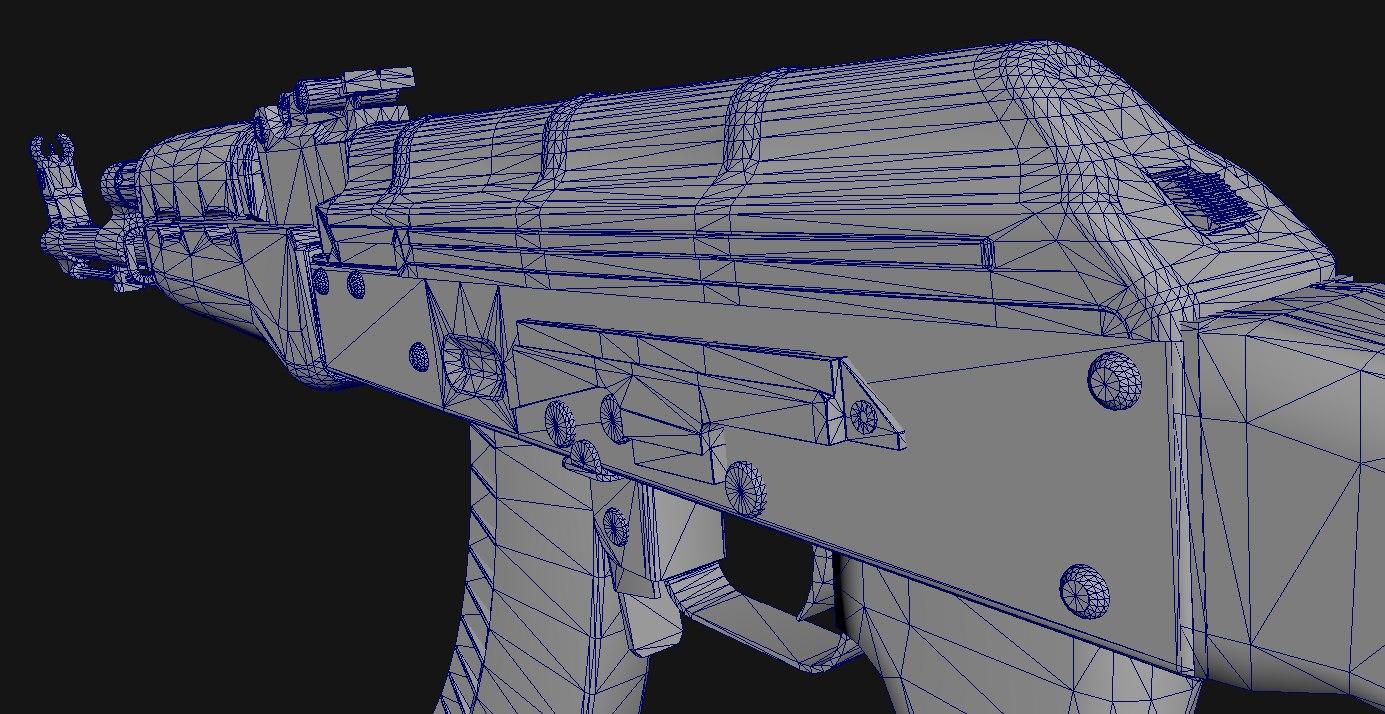 ak-47 assault rifle 3D