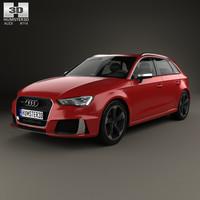 3D audi rs3 sportback