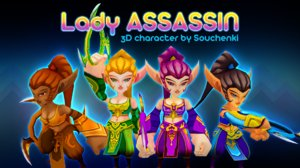 3D lady assassin model