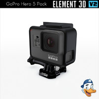 pack gopro hero 5 3D model