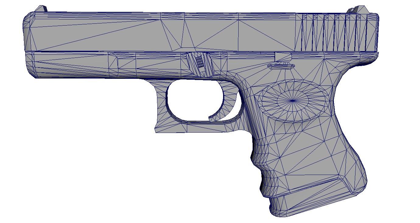glock-18 pistol 3D model