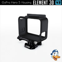 3D gopro hero 5 housing model