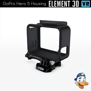 3D gopro hero 5 housing model
