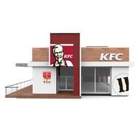 kfc fast food 3D model