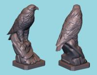 3D hawk statue model
