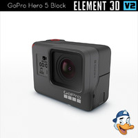 gopro hero 5 black 3D model