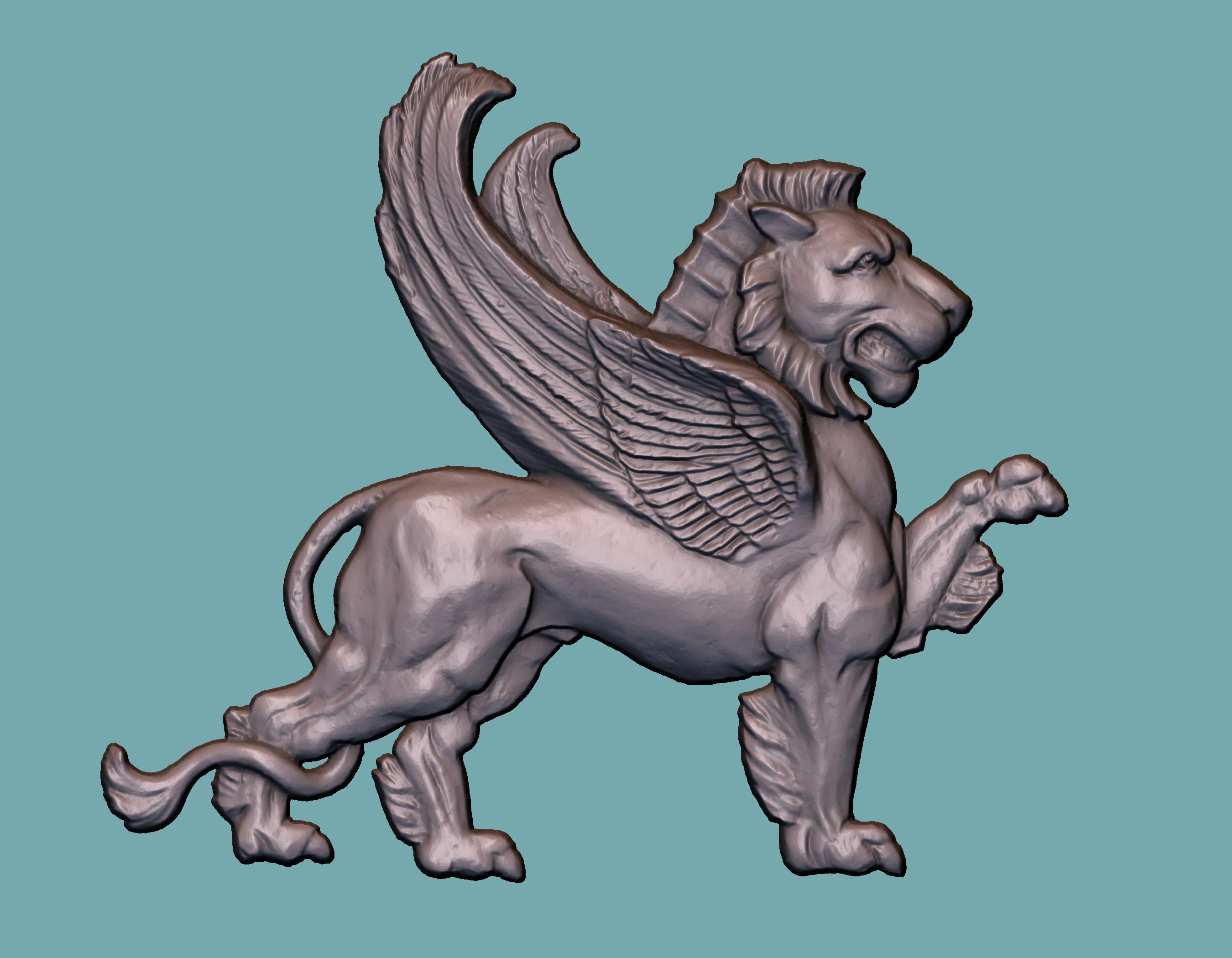 3D lion panno winged