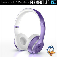 3D model beats solo3 wireless element