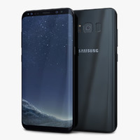 3D samsung galaxy s8 midnight model