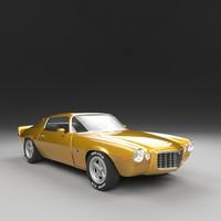 3D camaro 1972 z28