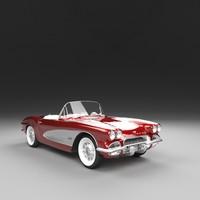corvette 1961 3D model