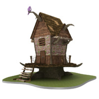 3D model medieval fantasy house games