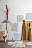 Handicraft Tools, Papers and Wall Lamp