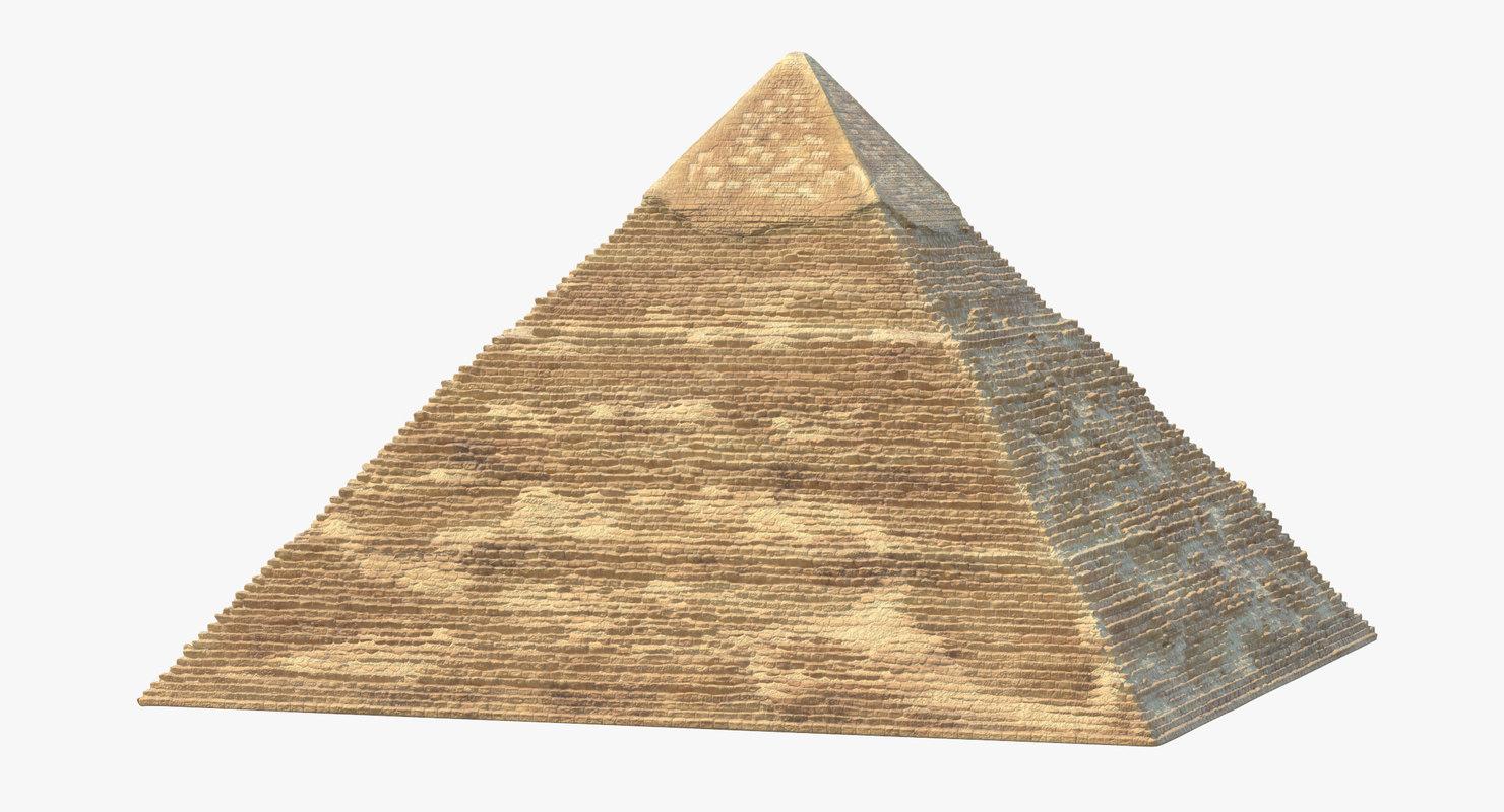 3D pyramid 01 model