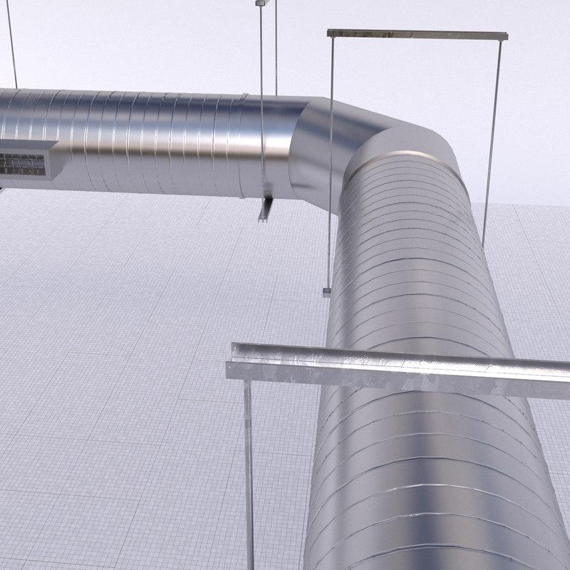 3D model ducting vent spirals