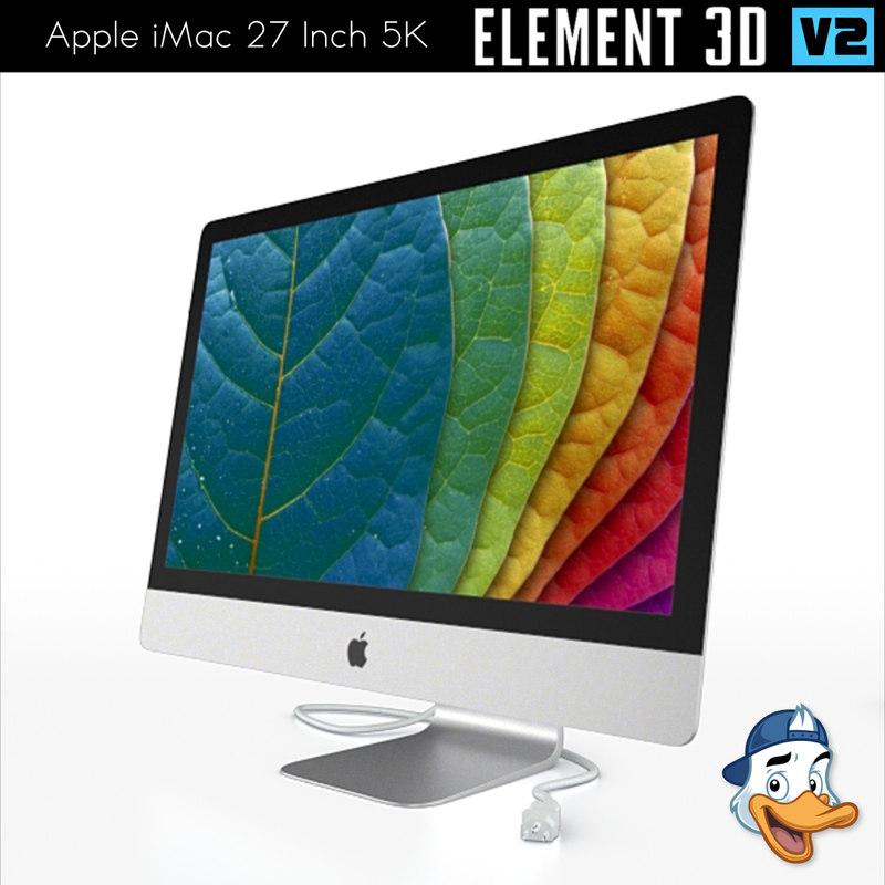 apple imac 27 inch 3D model