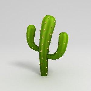 cactus cartoon 3D model