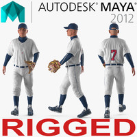 baseball player rigged generic 3D