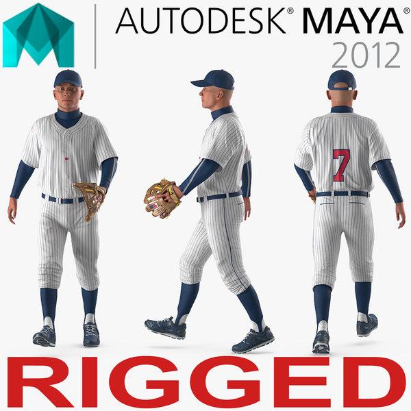 baseball player rigged generic 3D