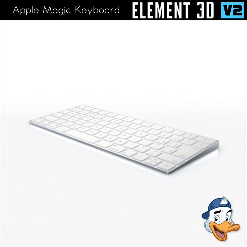 3D model apple magic keyboard element
