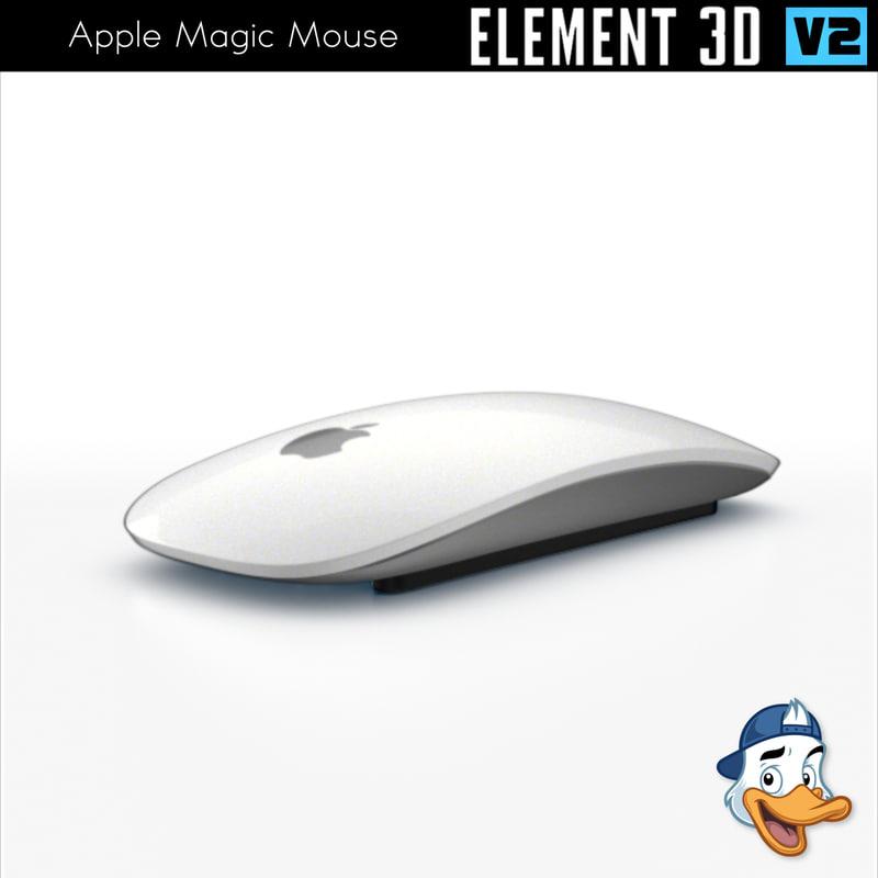 3D apple magic mouse element model