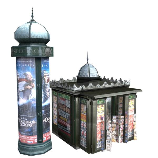 3D cartoon library