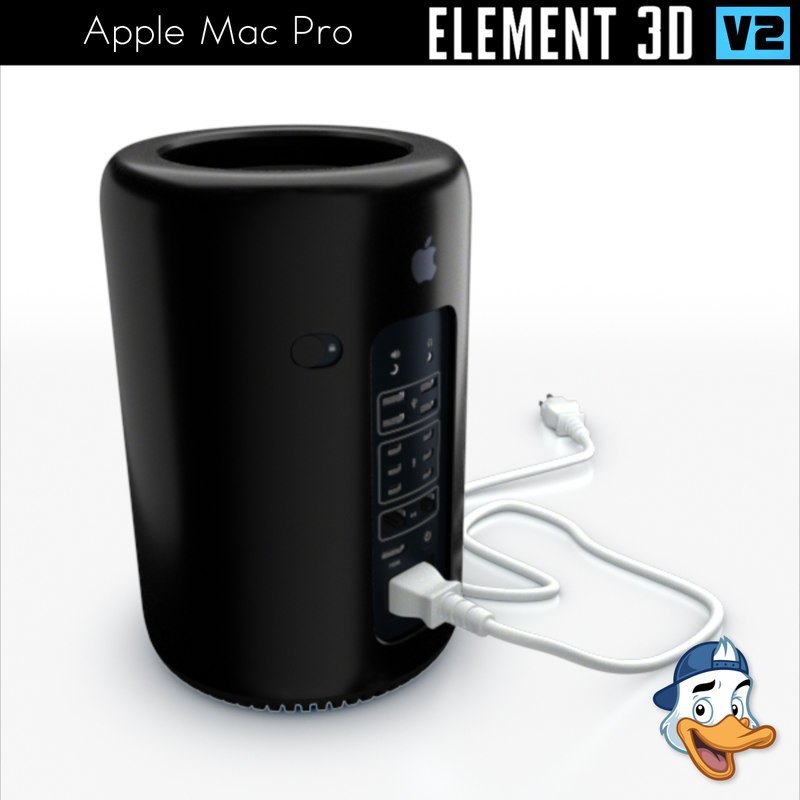 3D apple mac pro element