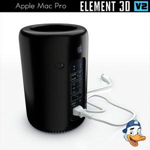 3D apple mac pro element
