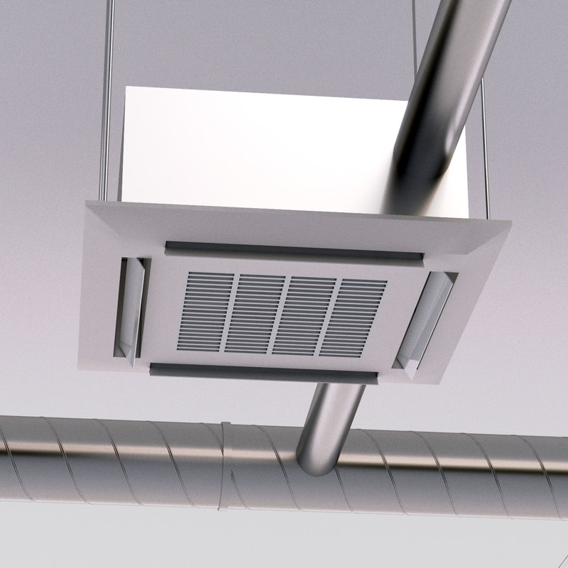 ceiling air conditioning 3D model