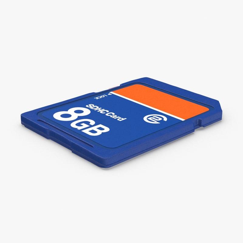 sd-memory-card 3D model