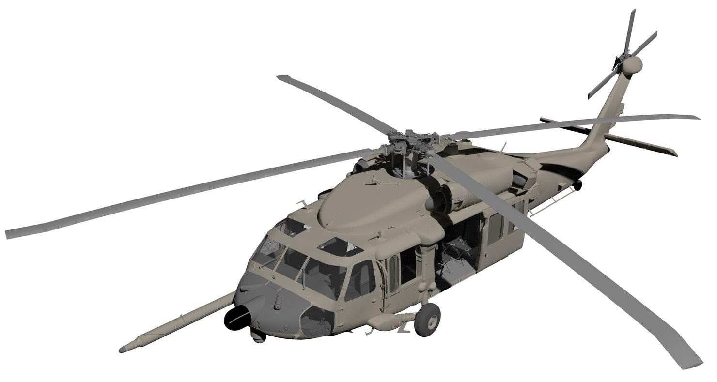 3D black hawk 007 model