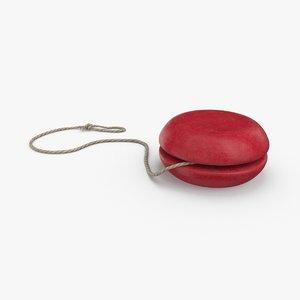 vintage-yo-yo---pose-01 3D model